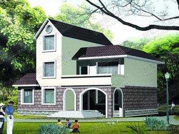 漂亮的二层半农村别墅设计图_别墅设计图纸,农村房屋设计图,农村自图片