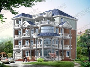 四层欧式全套别墅建筑施工图_能力v全套平面设计师如何提高色彩搭配别墅图片