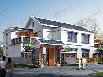 农村二层双拼房屋带阁楼_别墅设计图纸,农村房屋设计图,农村自建房