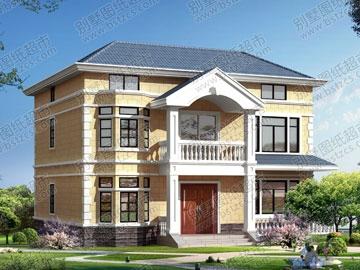 新农村二层带阁楼自建房设计图纸_别墅设计图纸,农村房屋设计图