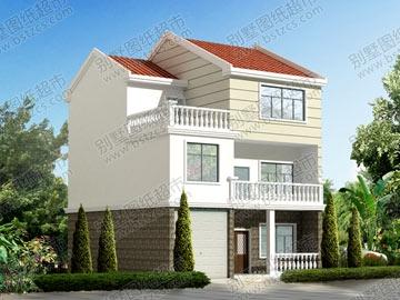 占地100平方農村三層帶車庫自建房設計圖_別墅設計圖紙,農村房屋設計