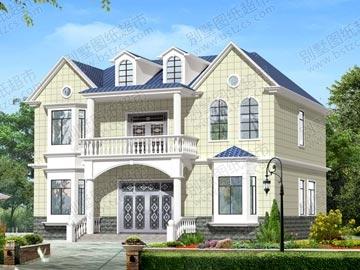 新农村二层实用别墅设计图纸及效果图_别墅设计图纸,农村房屋设计图