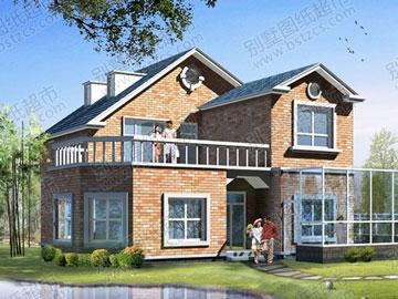 村镇住宅方案设计带效果图_别墅设计图纸,新农村别墅,农村自建房设计