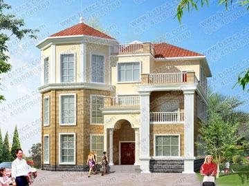 三层豪华私人别墅设计图纸_别墅设计图纸,农村房屋设计图,农村自建房