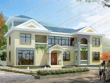 二层带阁楼新农村自建房屋设计图纸_别墅设计图纸,农村房屋设计图