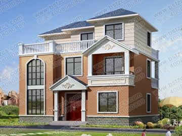 三层带露台别墅设计图纸效果图及施工图_别墅设计图纸,农村自建房设计