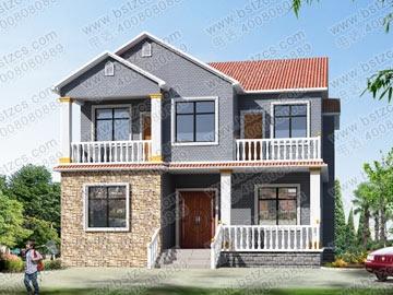 新农村住宅设计9_别墅设计图纸,新农村别墅,农村自建房设计