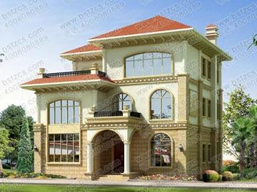 豪华漂亮的别墅设计图纸全套_别墅设计图纸,新农村别墅,农村自建房