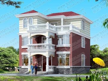 新农村住宅推荐方案9_别墅设计图纸,农村房屋设计图,农村自建房设计