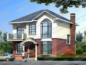 二层别墅全套施工图带效果图_别墅设计图纸,新农村别墅,农村自建房