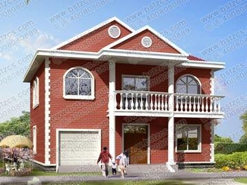 新农村二层带车库小别墅设计图_别墅设计图纸,农村房屋设计图图片
