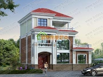 三层别墅全套施工图_别墅设计图纸,农村房屋设计图,农村自建房设计