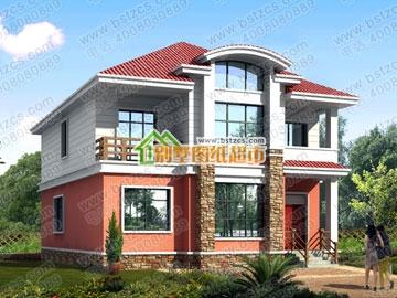 新农村二层别墅设计图纸_鼎川建筑,农村别墅设计图
