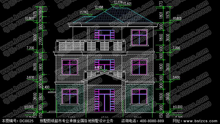 新农村住宅设计7_别墅设计图纸,新农村别墅,农村自建房设计