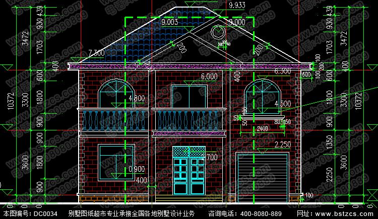 二层别墅图纸_别墅设计图纸,新农村别墅,农村自建房设计