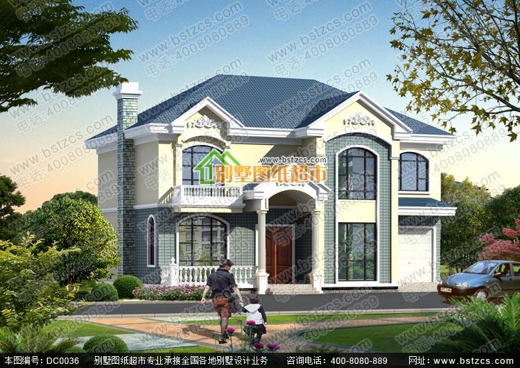 漂亮的二层乡村别墅_别墅设计图纸,新农村别墅,农村自建房设计