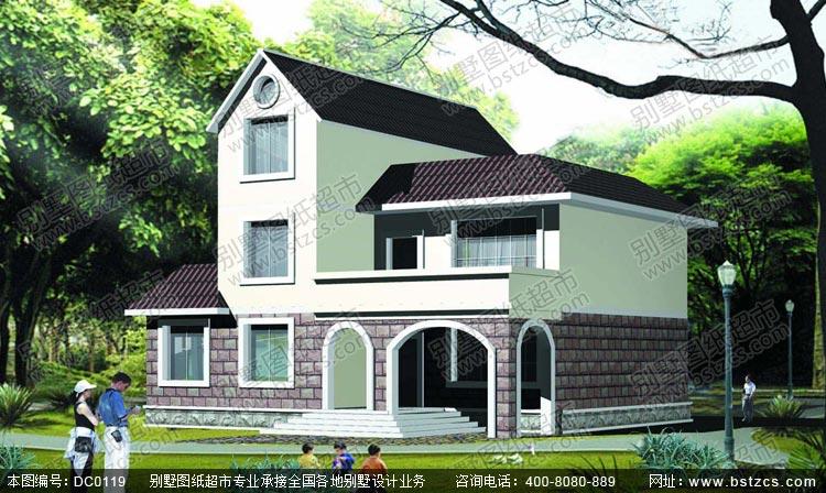 二层半农村别墅设计图_别墅设计图纸,农村房屋设计图,农村自建房设计