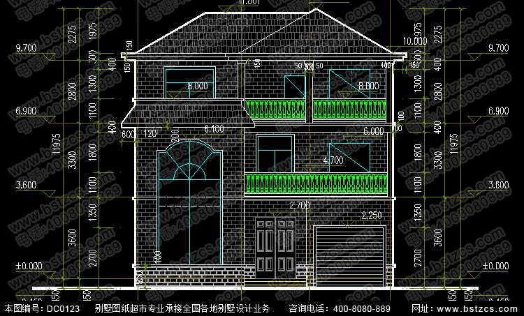 新农村三层房屋带车库_别墅设计图纸,农村房屋设计图