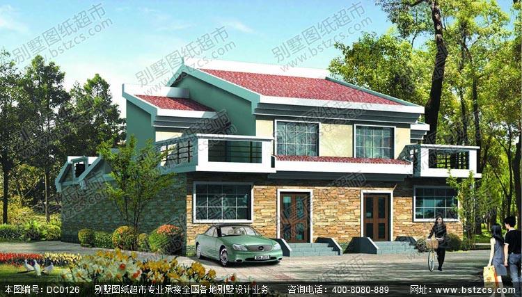 农村二层双拼房屋设计图_别墅设计图纸,农村房屋设计图,农村自建房图片
