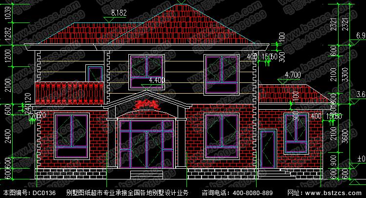 二层农村自建房屋设计图纸_别墅设计图纸,农村房屋设计图,农村自建房