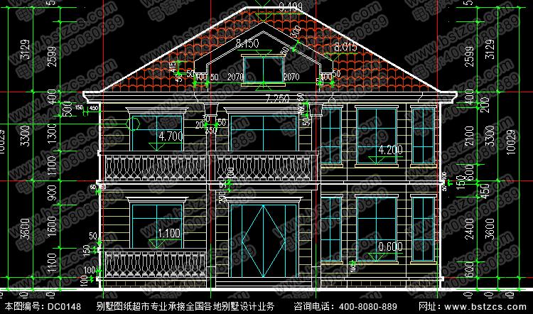 新农村二层别墅设计图纸全套图纸_别墅设计图纸,农村房屋设计图