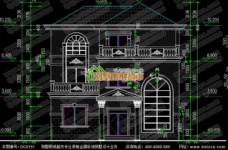 三层带旋转楼梯别墅设计图纸_别墅设计图纸,农村房屋设计图
