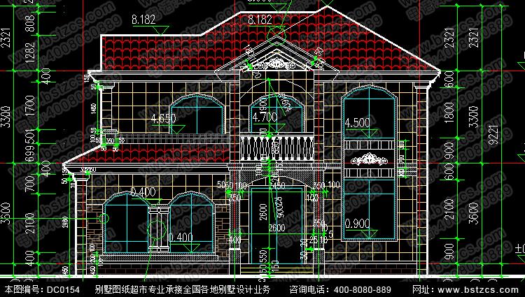 二层带露台别墅设计图纸及效果图_别墅设计图纸,农村房屋设计图