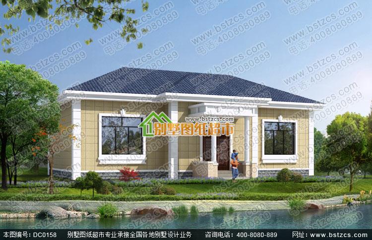 农村一层平房设计全套施工图纸_别墅设计图纸,农村房屋设计图