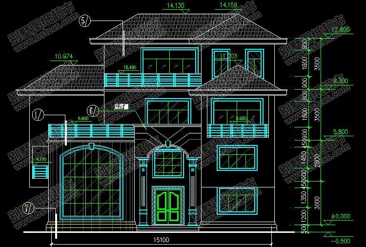 带夹层的复式别墅设计施工图效果图_别墅设计图纸,农村自建房设计图图片