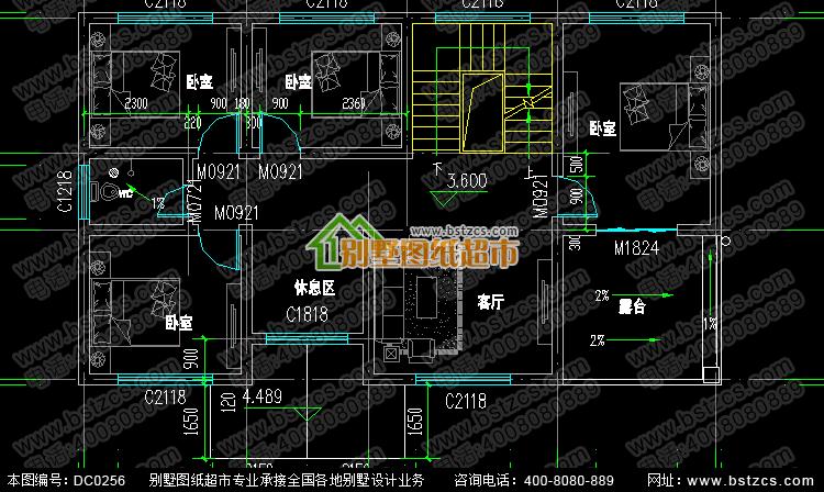 农村三层带车库自建房设计施工图纸_别墅图纸超市,农村房屋设计图