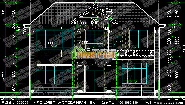 首页 图纸超市 二层别墅 新农村二层带阳台小别墅设计图_鼎川图纸超市