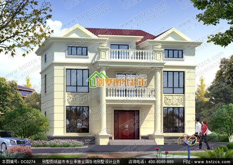 二层带阁楼欧式别墅全套图纸_农村别墅设计图纸,鼎川建筑