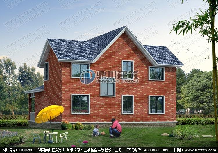 漂亮的二层独栋小别墅设计图纸及效果图_别墅图纸超市,农村房屋设计图