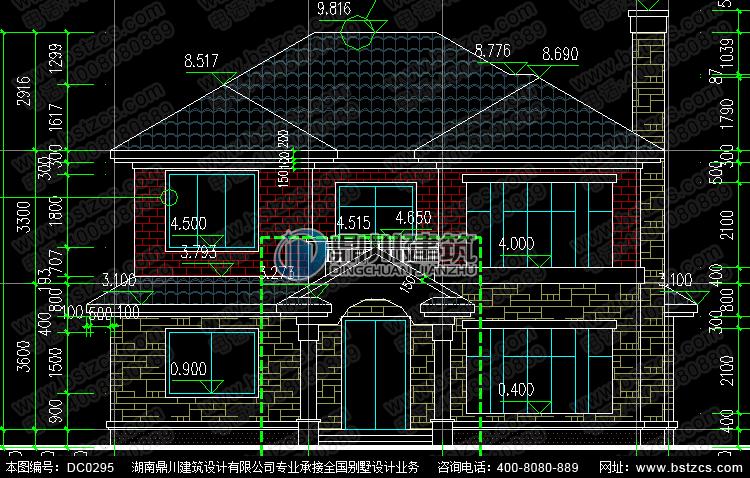二层框架结构抗震小别墅设计图纸_农村自建房设计图,鼎川建筑