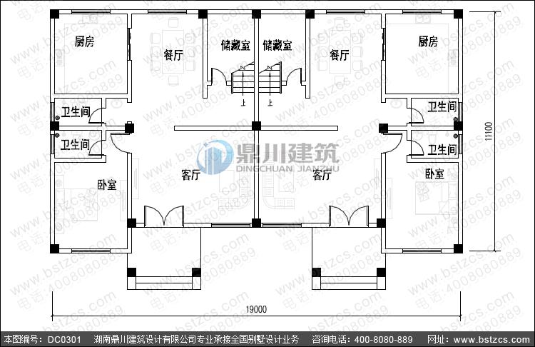 欧式三层双拼别墅设计图纸_双拼别墅设计,鼎川建筑