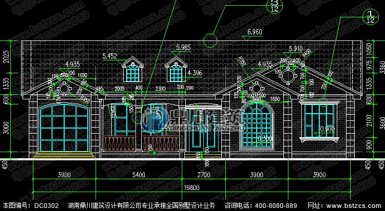 漂亮的一层带车库农村别墅设计图纸_农村房屋设计图,鼎川建筑