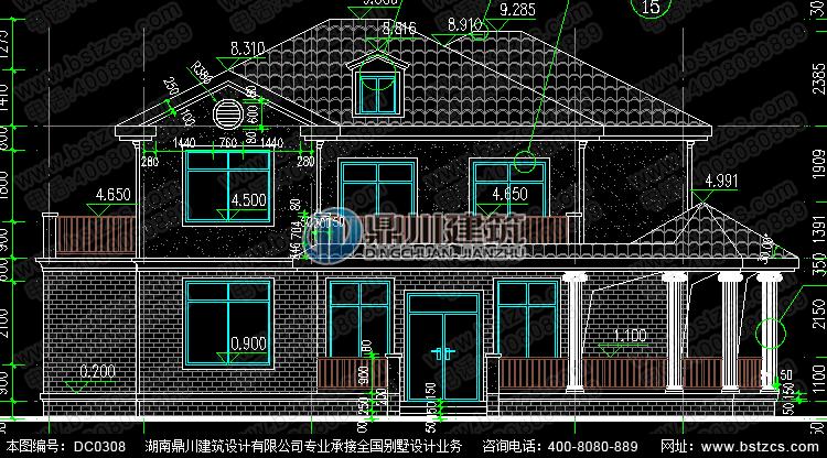 新农村独栋二层小别墅设计图纸_农村别墅设计图,鼎川别墅图纸