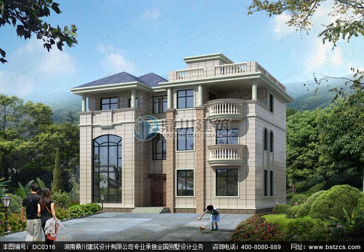 大气三层带屋顶平台欧式别墅设计图纸_别墅图纸超市,鼎川别墅设计图纸