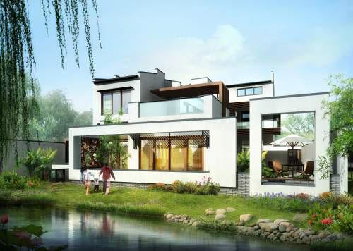 现代中式别墅设计说明_行业新闻_新闻动态_别墅图纸图片