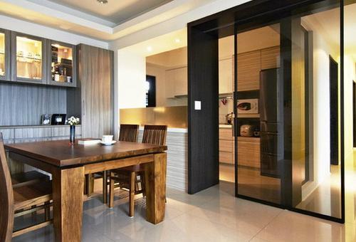 别墅厨房与餐厅隔断怎么设计