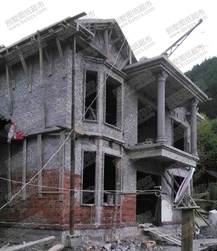 施工案例:农村带阳台二层自建房