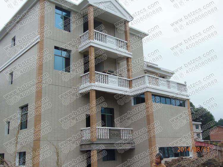 施工案例:漂亮的复式三层带车库小洋楼_施工案例_别墅图片
