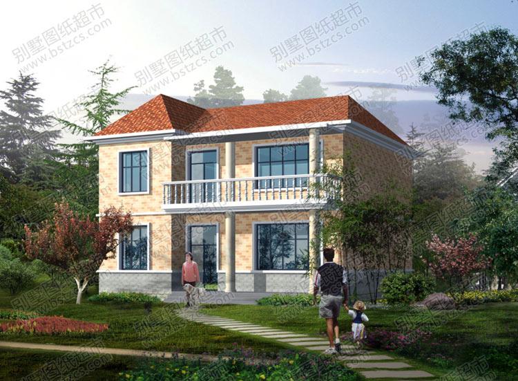 简单的二层农村自建房屋效果图