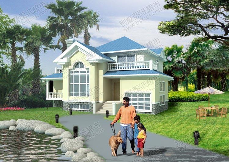 漂亮的农村错层小别墅设计效果图