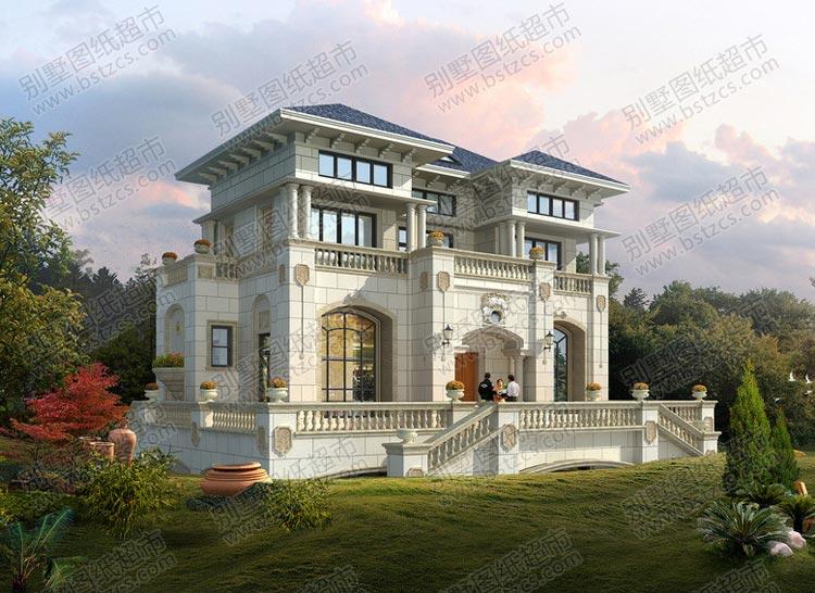 豪华型欧式别墅外观效果图