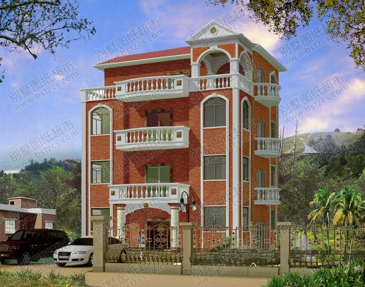 三层半简欧别墅设计外观效果图