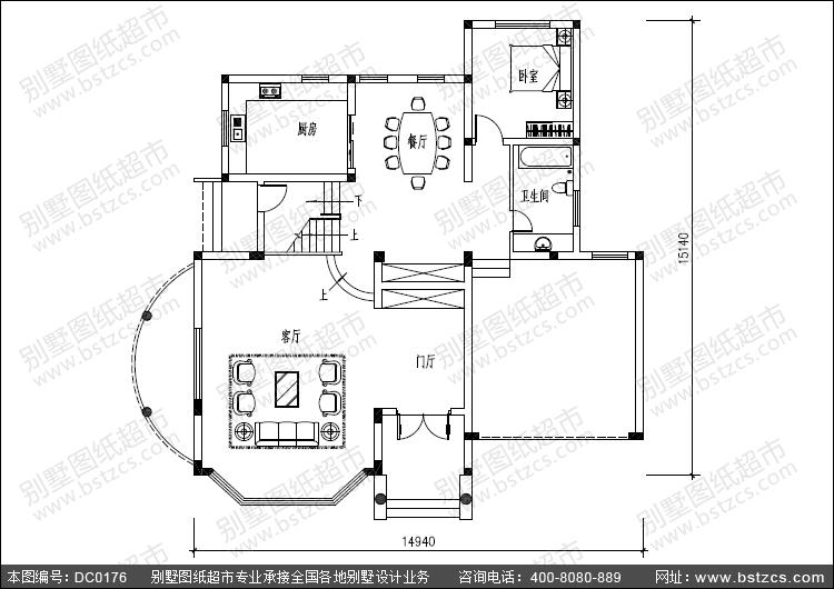 三层带车库复式楼别墅设计图纸及效果图_别墅设计图纸