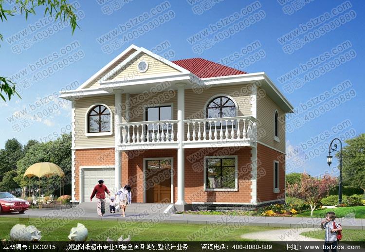 新农村带车库二层小别墅设计图