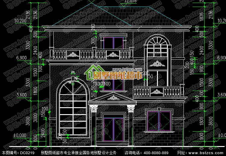 农村三层带旋转楼梯别墅设计施工图_别墅设计图纸,农村房屋设计图