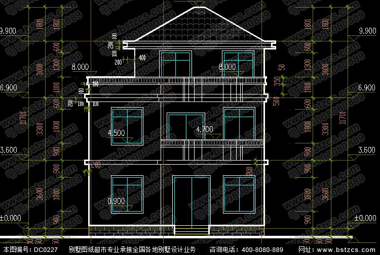 新农村二层半自建房设计图_别墅图纸超市,农村房屋设计图